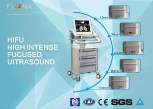 China Facial Anti Aging HIFU Beauty Machine No Radiation 50W Max Power White Color on sale