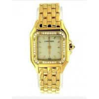 Ladies Cartier Panthere Diamonds 18K YG Special Edition Gold 22mm Watch B&P