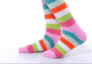 China 100% Cotton Seamless Womens Crew Socks , Non Slip Baby Socks on sale