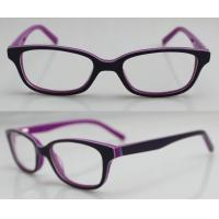 China Purple / Orange Hand Made Kids Eyeglasses Frames , Eye Spectacles Frames on sale