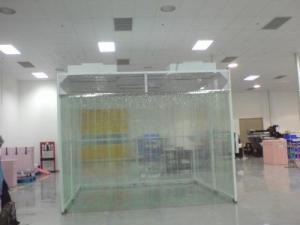 China Smooth Operated Prefabricated Clean Room , Mobile Clean Room Fan Filter Unit Inside on sale