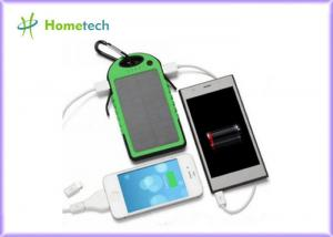 China 5V 1A Solar Shockproof Dual USB Port External Mobile Power Bank on sale