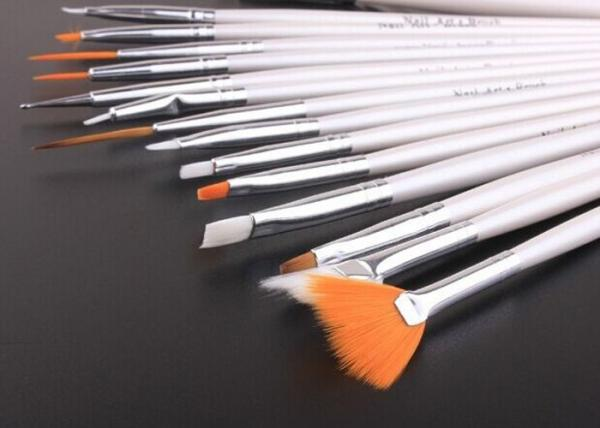 White Synthetic Nail Cleaning Brush Draw Pattern Painting Nail Art