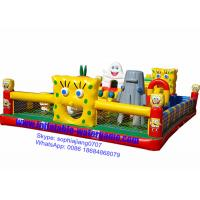 Spongebob Inflatable Fun City Bouncy Castle Playground Environmental Protection