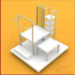 China Multi - Functional Wooden Display Racks Cosmetic / Purfume Slatwall Display Units on sale