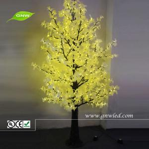 China GNW tr242 Artificial Maple Tree Yellow LED lighting Decoration on sale