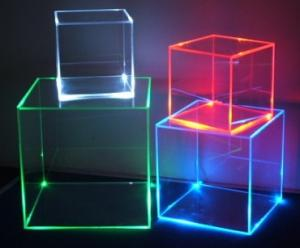 led cube acrylic display case customized perspex show box for sale
