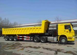 China 40 Tons Loading Heavy Duty Semi Trailers / Heavy Duty Dump Truck 28T Support Leg on sale