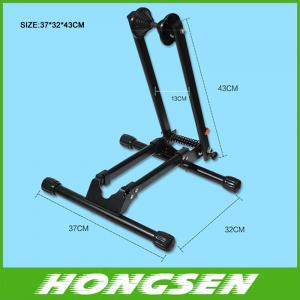 China HS-026A Floor steel bike display stand rack for folding bicycle parts on sale