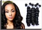 Soft Brazilian And Peruvian Virgin Hair / Peruvian Weave 10 Inch