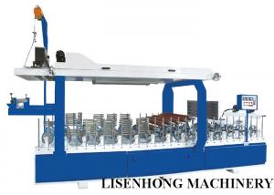 China Blue Color Veneer Wrapping Machine , Cold / Hot Glue Laminator Machine Long Life Span on sale