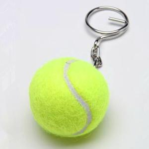 China gren color tennis ball keychain 1.5'' on sale