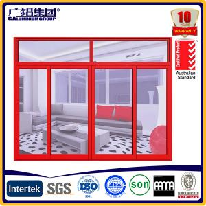 China three sashes double glazing aluminium sliding window on sale