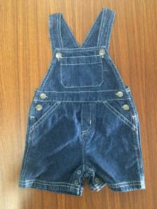 China 100 Cotton Fabirc Little Boy Kids Overall Jeans Shorts Dark Blue Color Fade Proof on sale
