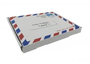 China Mailing Flat Corrugated Cardboard Box Folded , Cardboard Postal Boxes on sale