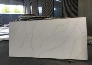 China Luxury Natural White Quartz Countertops That Look Like Calacatta Marble 7Mohs Hardness on sale