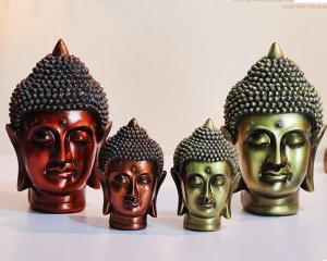China India Buddha head Town house Auspicious furnishing articles and craftwork Decoration on sale