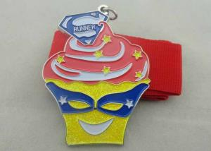 China 3D Ice Cream Enamel Medal Zinc Alloy / Brass / Copper , Disney on sale