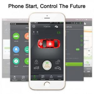 China Car PKE keyless entry Smart phone start engine security alarm system on sale