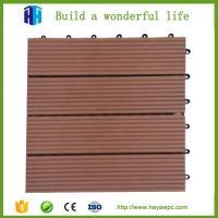 HEYA wpc decking tile 30x30 interlocking outdoor composite plastic wood tile flooring