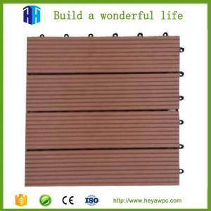 China HEYA wpc decking tile 30x30 interlocking outdoor composite plastic wood tile flooring on sale