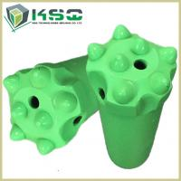 China Dome Carbide Tipped Button Drill Bit For Metal Ore Mining Green Forging on sale