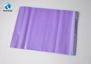 China Tamper proof  Purple Plastic Courier Bags Poly envelopes Seal Adhesive on sale