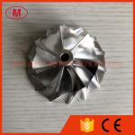 TD05H reverse 55.50/76.13mm 7+7 blades tapered tip angle:14 degree Turbo Billet/milling/aluminum 2618 compressor wheel