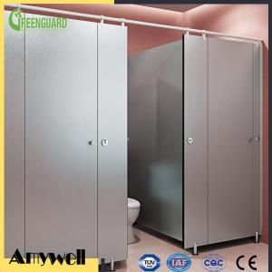 Quality Amywell high density 12mm solid phenolic waterproof compact hpl cubicle toilet partitions for sale ... & Amywell high density 12mm solid phenolic waterproof compact hpl ...