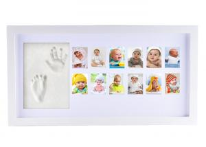 China Wooden Baby First 12 Months Photo Frame Kids / Baby Picture Frames on sale