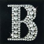 crystal letter stickers Rhinestone letter sticker tattoo sticker for skin