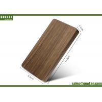 China 4000mAh Solid Walnut Wooden Portable Charger 110g With Polymer Battery Cell on sale