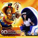 Sièges de simulateur panoramique de la réalité virtuelle 9D de plate-forme de rotation mini pour le supermarché