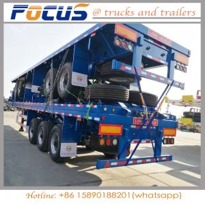 China 40Feet 40T capacity Container / bulk cement Flatbed Truck Semi Trailer with Triple axle on sale