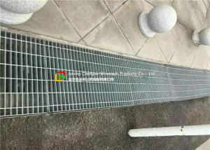China Anti Slip Outdoor Drain Grate Covers , Serrated Steel Trench Covers Grates on sale