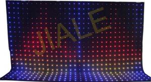 China 4x6m Rgb 3in1 Led Video Curtain Backdrop Decoration / Stage Fixture on sale