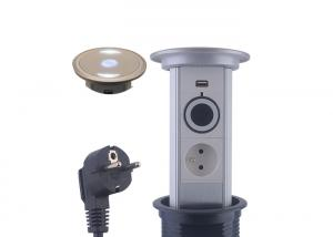 China Waterproof Electric Motorised Pop Up Socket LED Lighting Design Easy Installation on sale