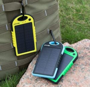 China Solar Panel Charger 6000mAh/12000mAh Rain-resistant and Dirt/Shockproof Dual USB Port Portable Charger Phones Devices on sale