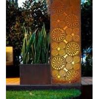 Vintage Home Decor Japan Metal Corten Steel Screen Sculpture