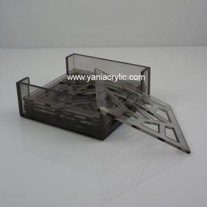 Superior Laser Engraving Plexiglass Elegant Contemporary Cup Mat / Acrylic Storage  Containers