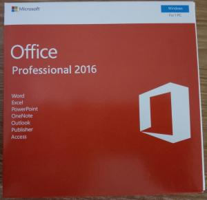 China Microsoft Office Professional 2016  (DVD + PKC) Pack / Office 2016 Pro Retail Pack on sale