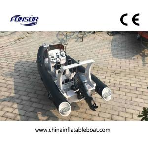 China Ce Approval FQB 580B PVC RIB Inflatable Boat With Motor For Fishing on sale