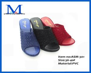 China 2014 lady comfort wholesale new design fashion wedge sandals ASM-301 on sale