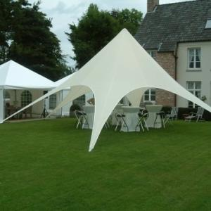 China White Outdoor star pop up tent canopy Wedding sun shade with Carbon Fiber pole on sale