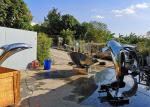 Modern Design Art Mirror Polished Stainless Steel Sculpture Dolphin Fountain