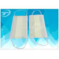 Breathable Non-Woven Disposable Earloop Face Mask 3ply  17.5x9.5cm For Medical