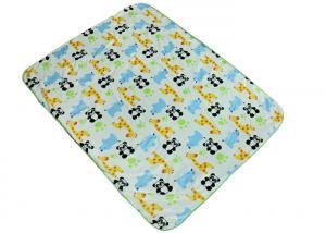 China Comfortable Baby Swaddle Blankets With Panda Giraffe Rhino Pattern on sale