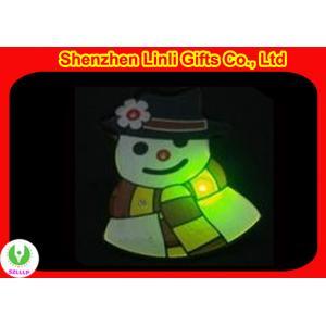 China OEM logo plastic Personalised Christmas Decorations flashing badge gift on sale