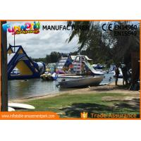 Giant Inflatable Water Parks / Hand printing Inflatable Aqua Park