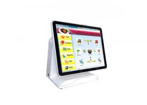 China J1900 CPU Wifi Pos System All In One High Performance With Wide View Angle on sale